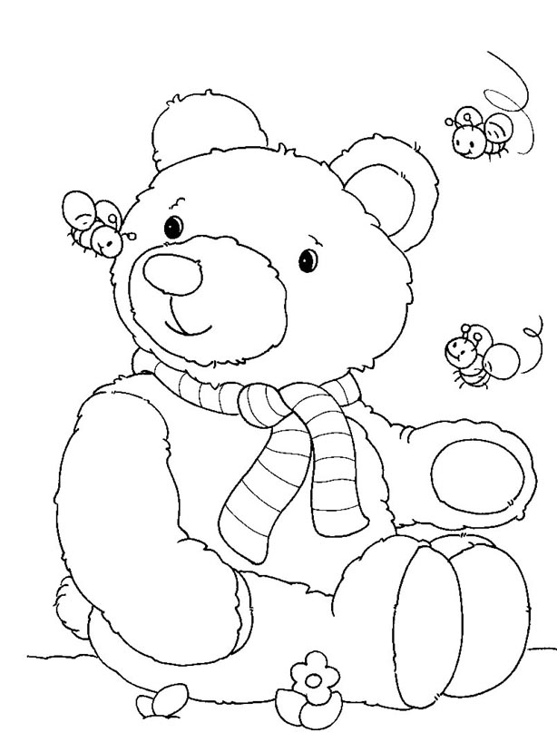 teddy bear picnic coloring page free printable bear coloring pages for