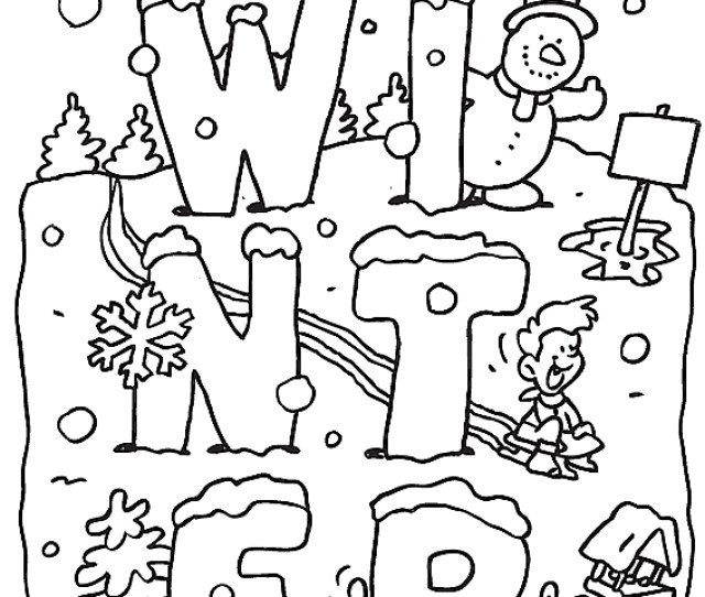 Free Printable Winter Coloring Pages For Kids