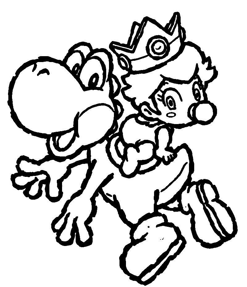 Printable Yoshi Coloring Pages Coloring Me Printable Super Mario