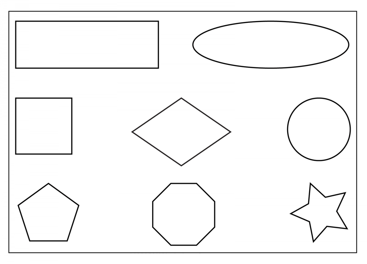 Free Shapes Coloring Pages For Toddlers Coloring Page