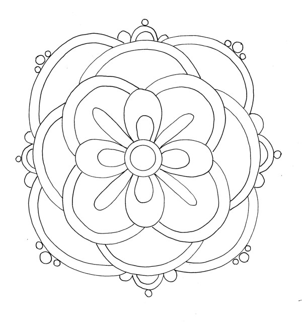 rangoli coloring pages # 16