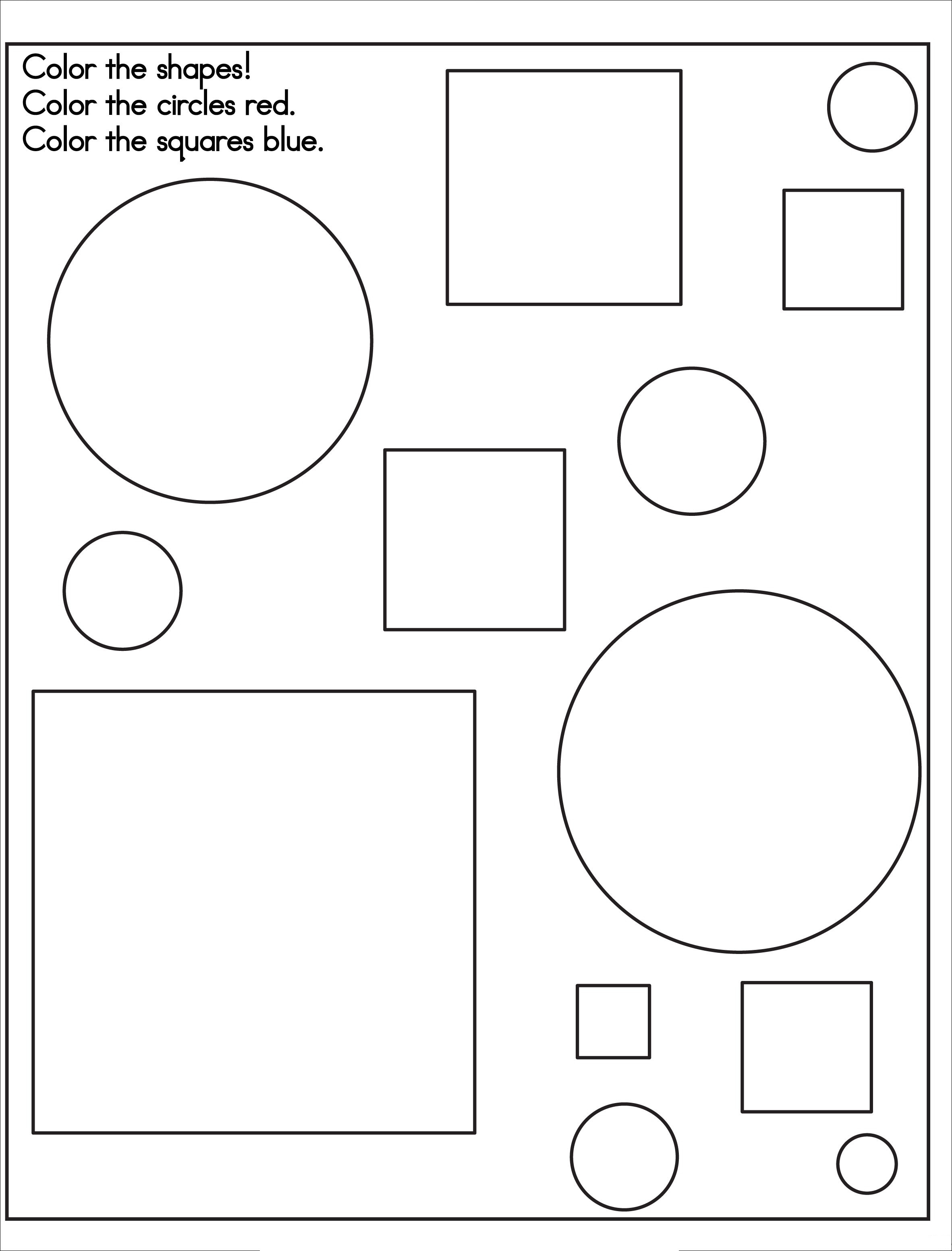 Attribute Shapes Printable Sheets Coloring Pages