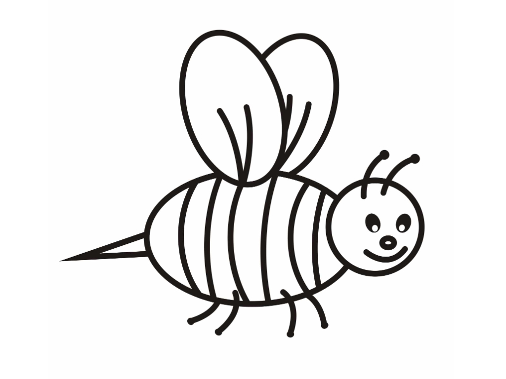 free happy bumble bee coloring pages