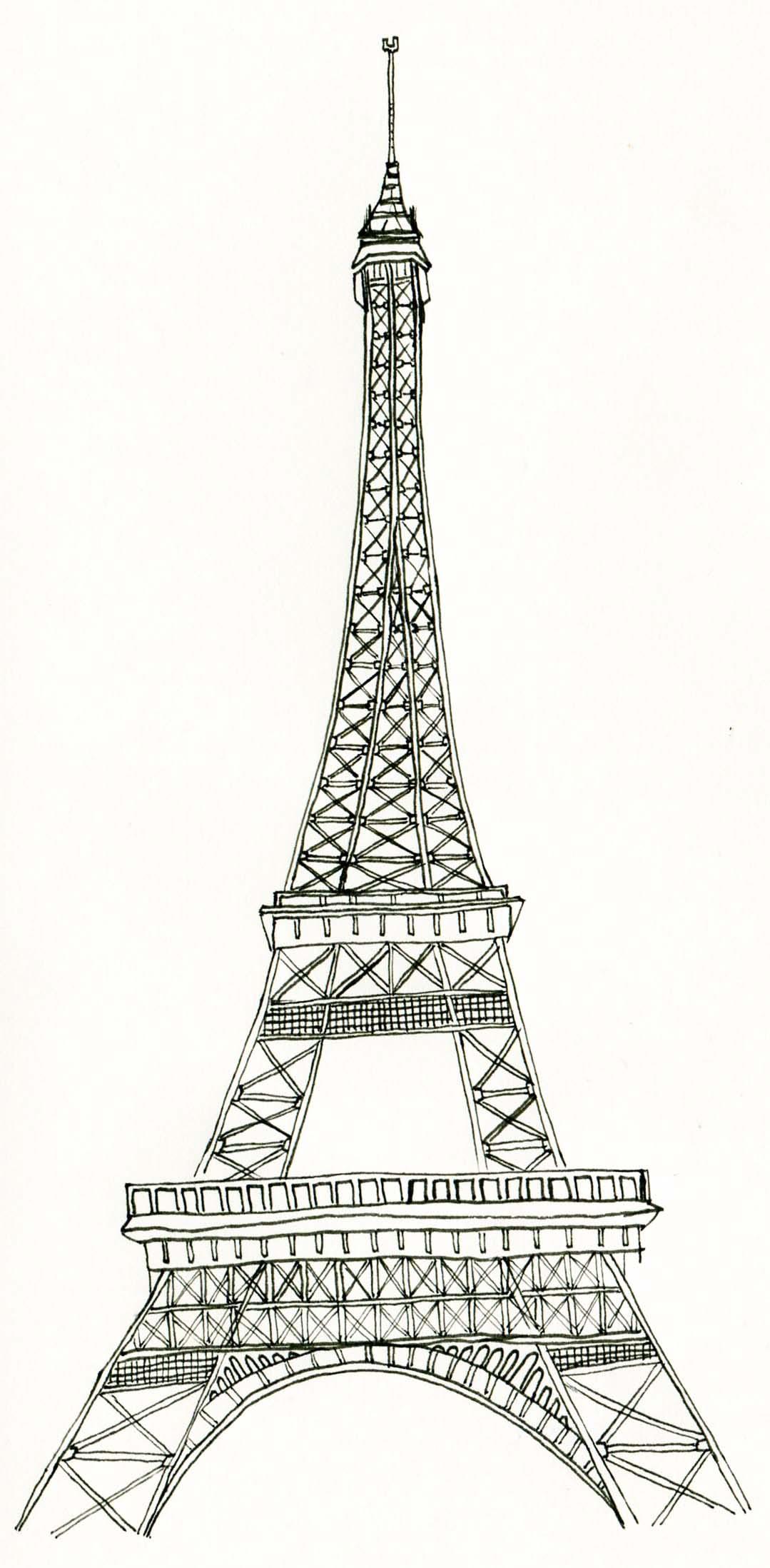 3d Eiffel Tower Template