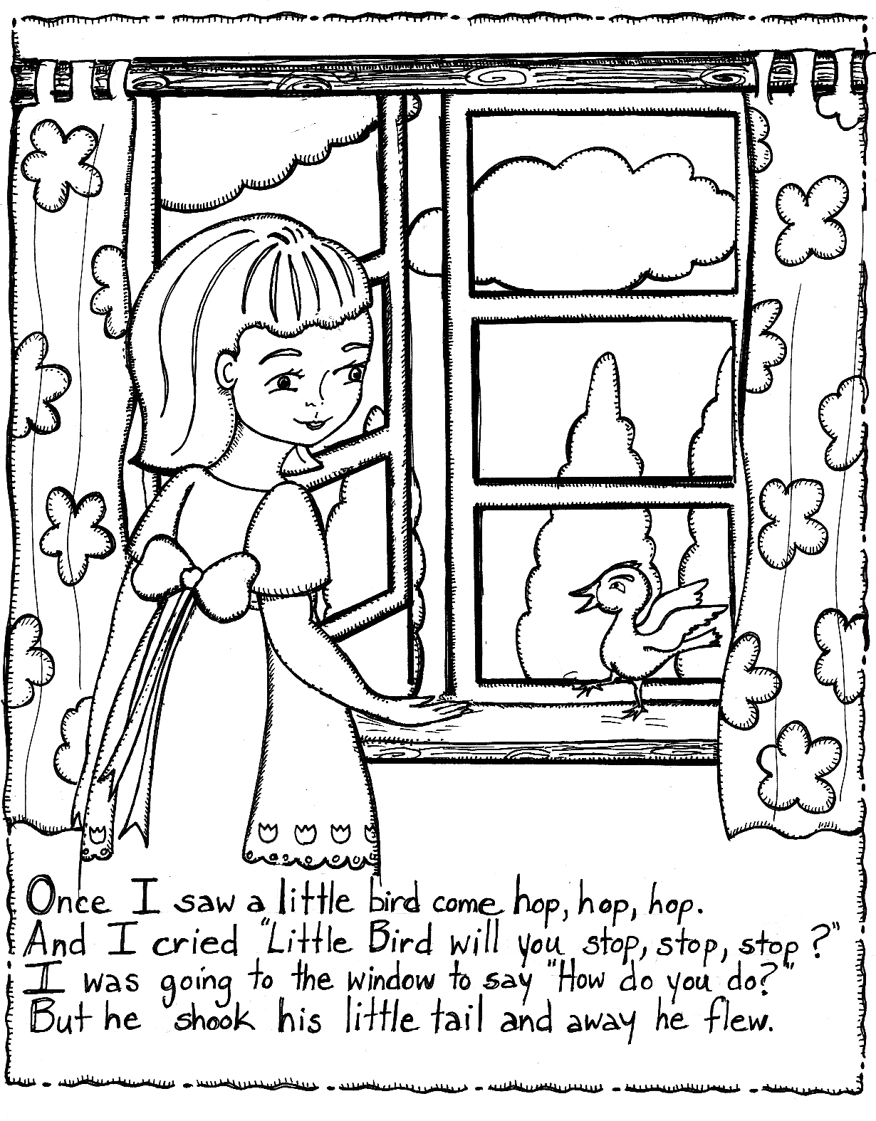 Nursery Rhymes Coloring Pages For Preschoolers