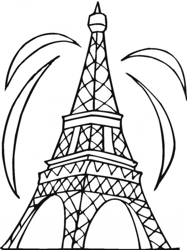 eiffel tower coloring pages # 18