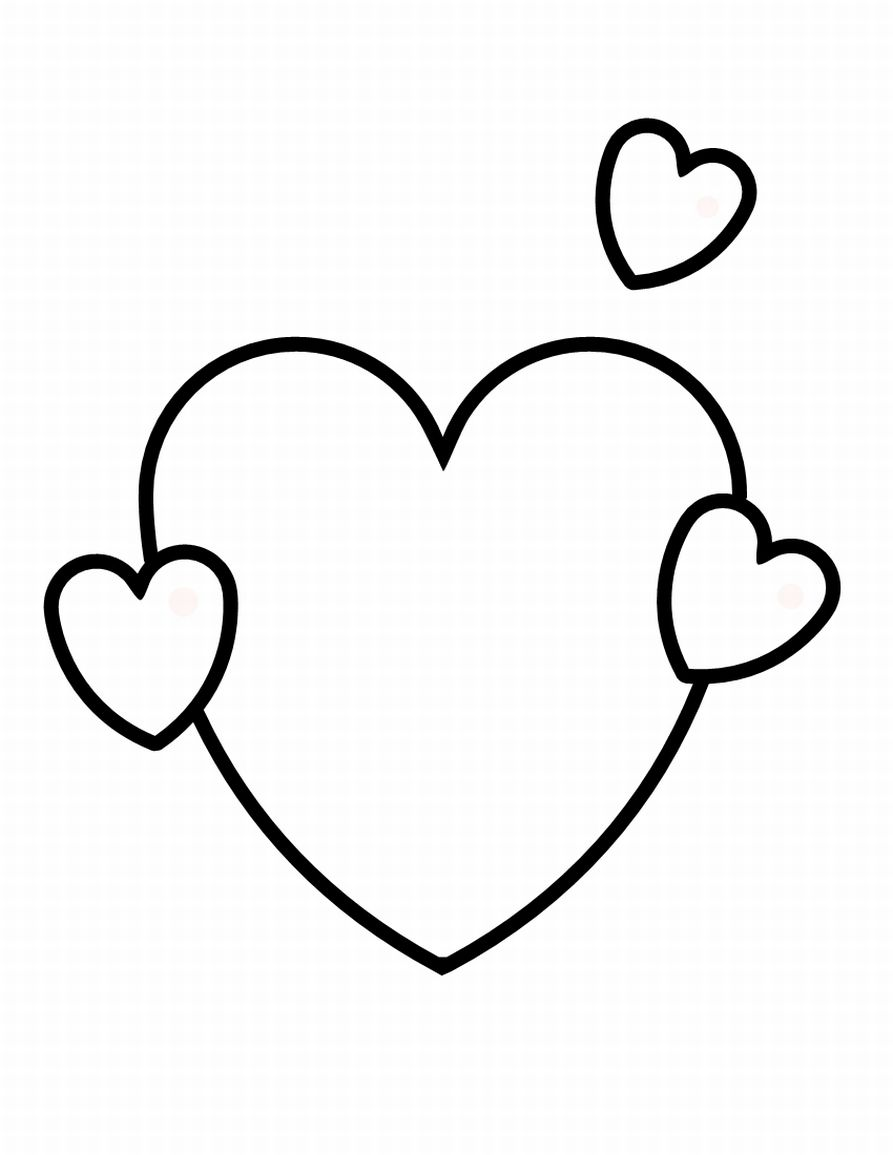 coloring pages heart shapes cooloring com