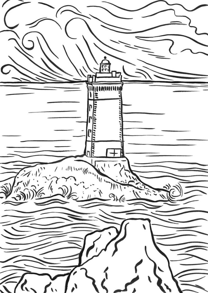 lighthouse coloring page | Coloring Page for kids