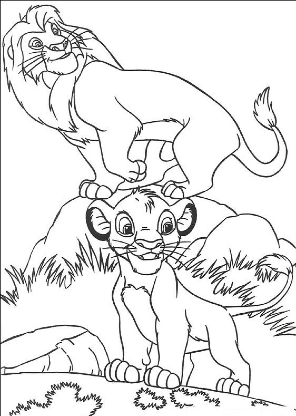 baby simba the lion king coloring page photos hellocoloring com