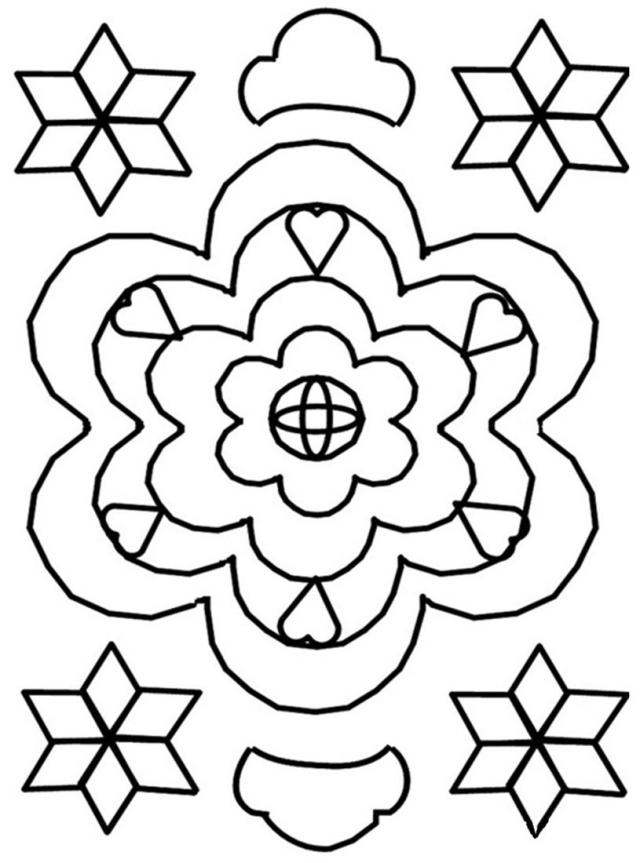 Free Printable Rangoli Coloring Pages For Kids
