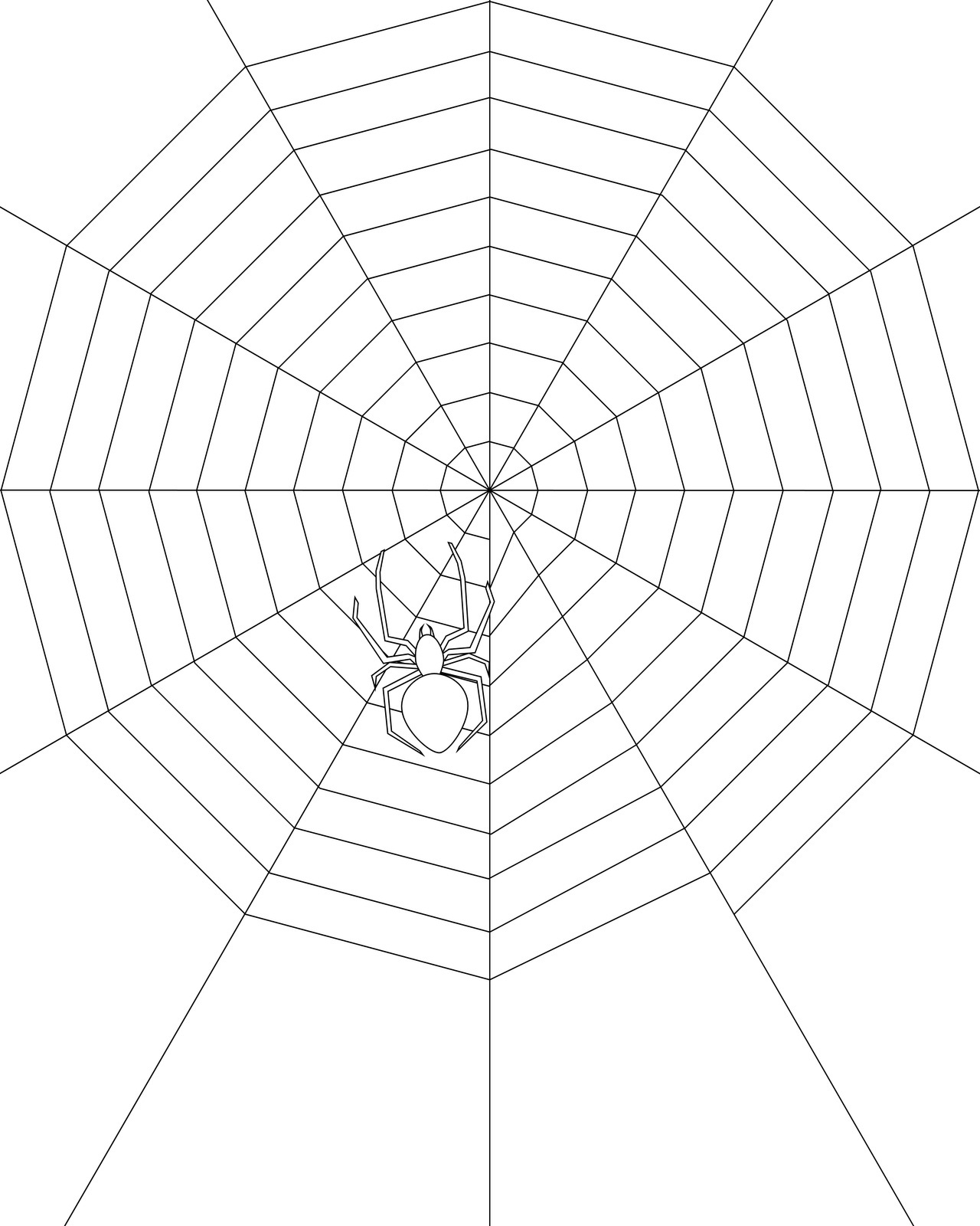 Free Printable Spider Web Coloring Pages For Kids