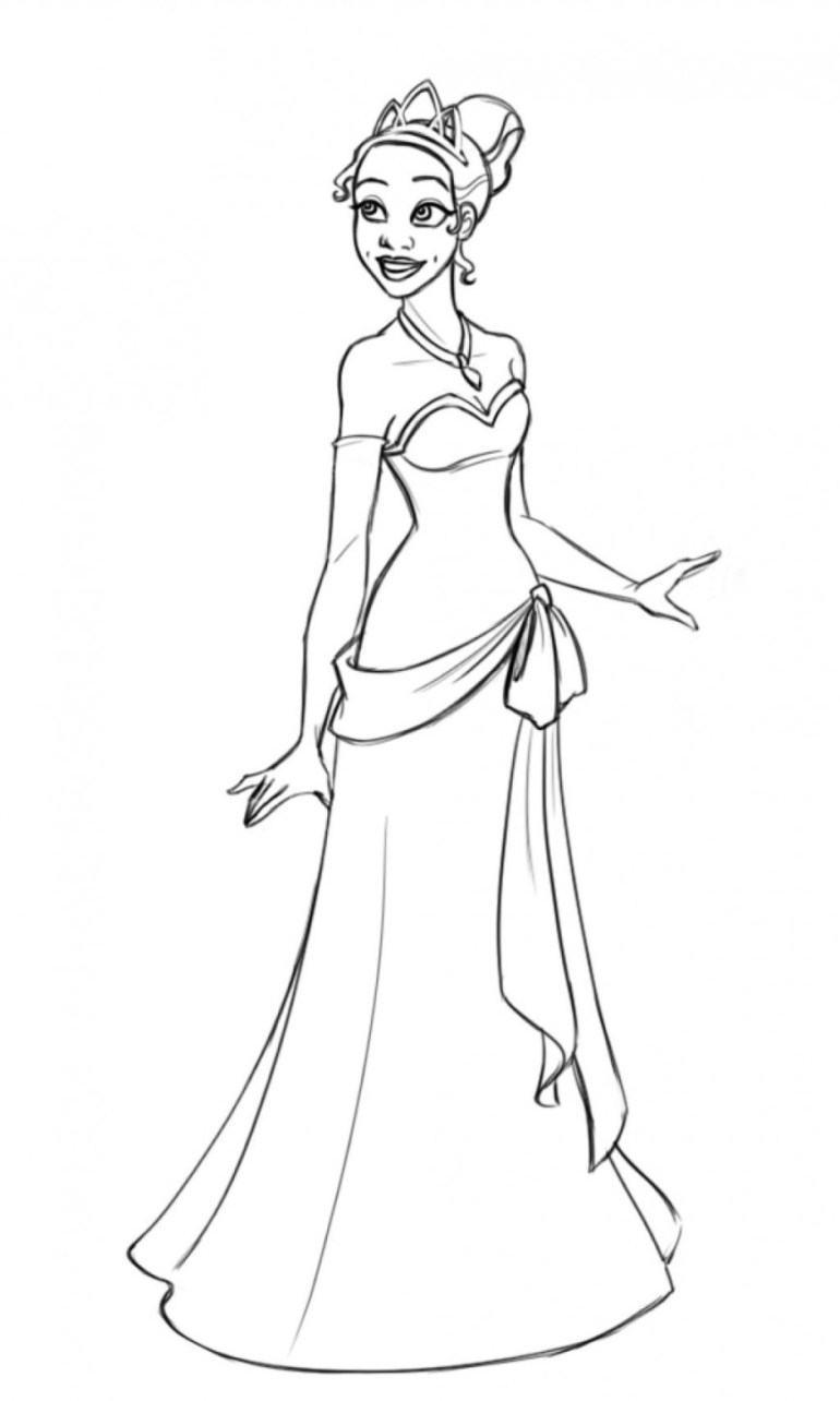 Free Printable Princess Tiana Coloring Pages For Kids | free printable princess tiana coloring pages