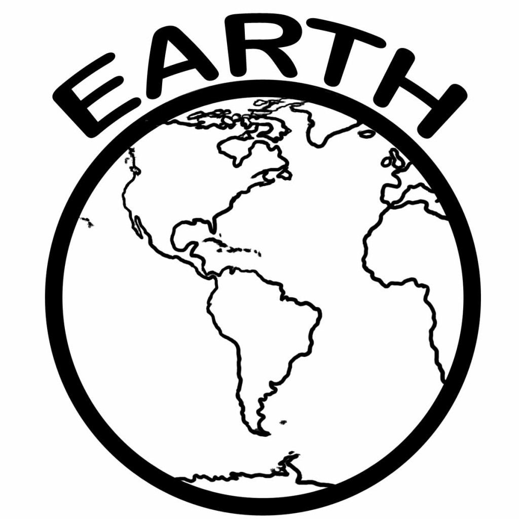 map of the world coloring page for kids world map coloring page – Planet Earth Worksheets