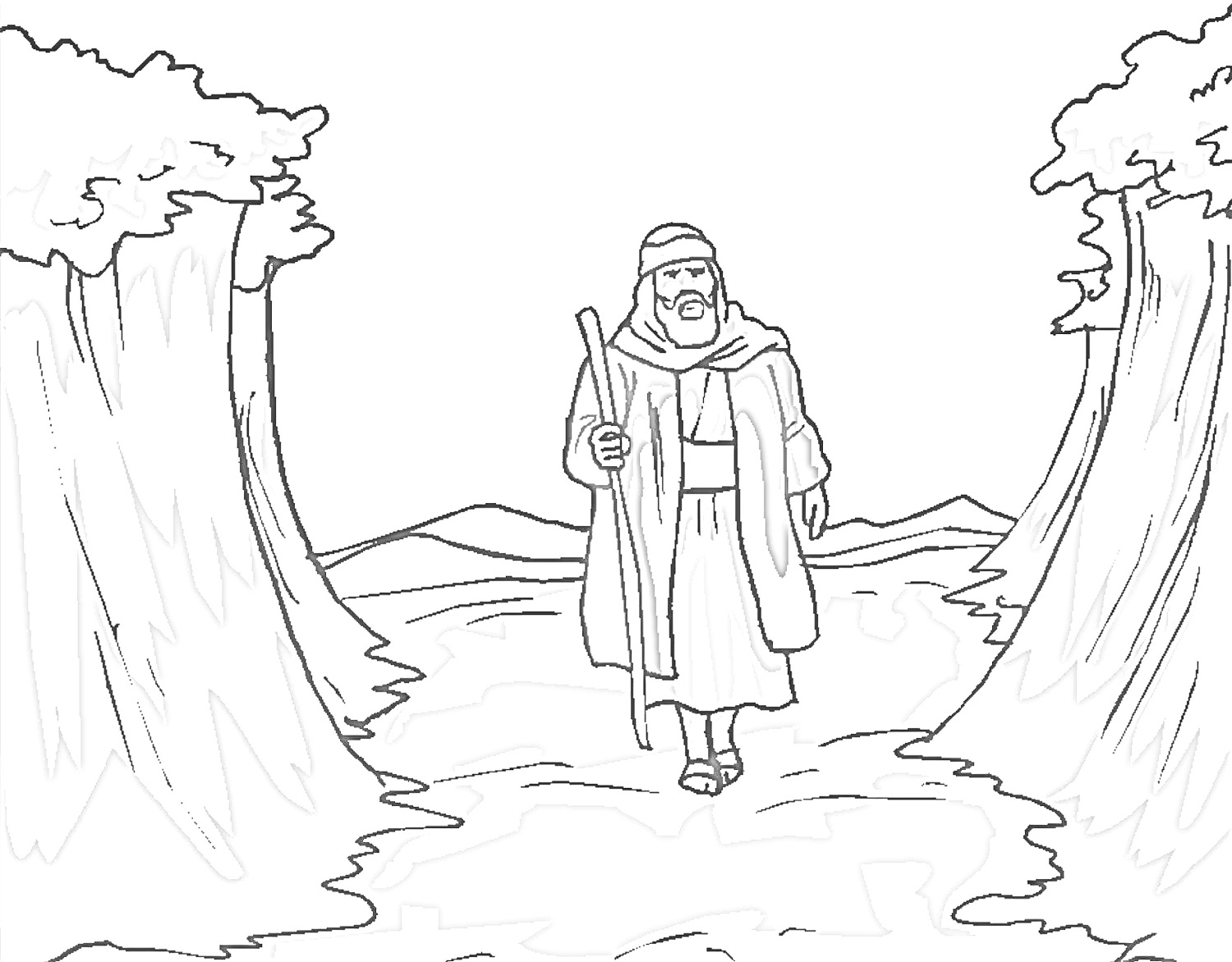 Moses Coloring Pages