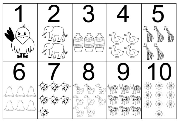 number 4 coloring page # 9