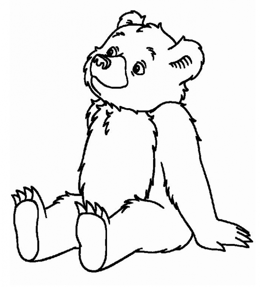 teddy bear coloring page images amp pictures becuo