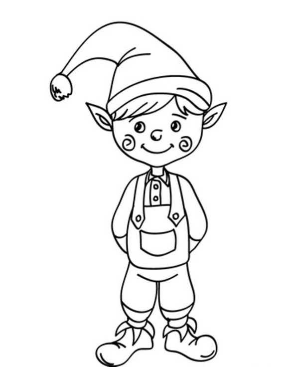 christmas elf coloring pages # 4