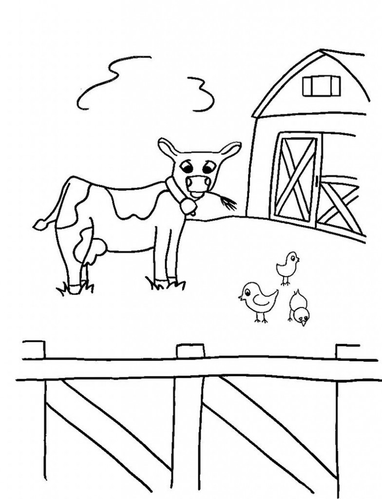 Free Printable Farm Animal Coloring Pages For Kids | animal coloring pages for toddlers