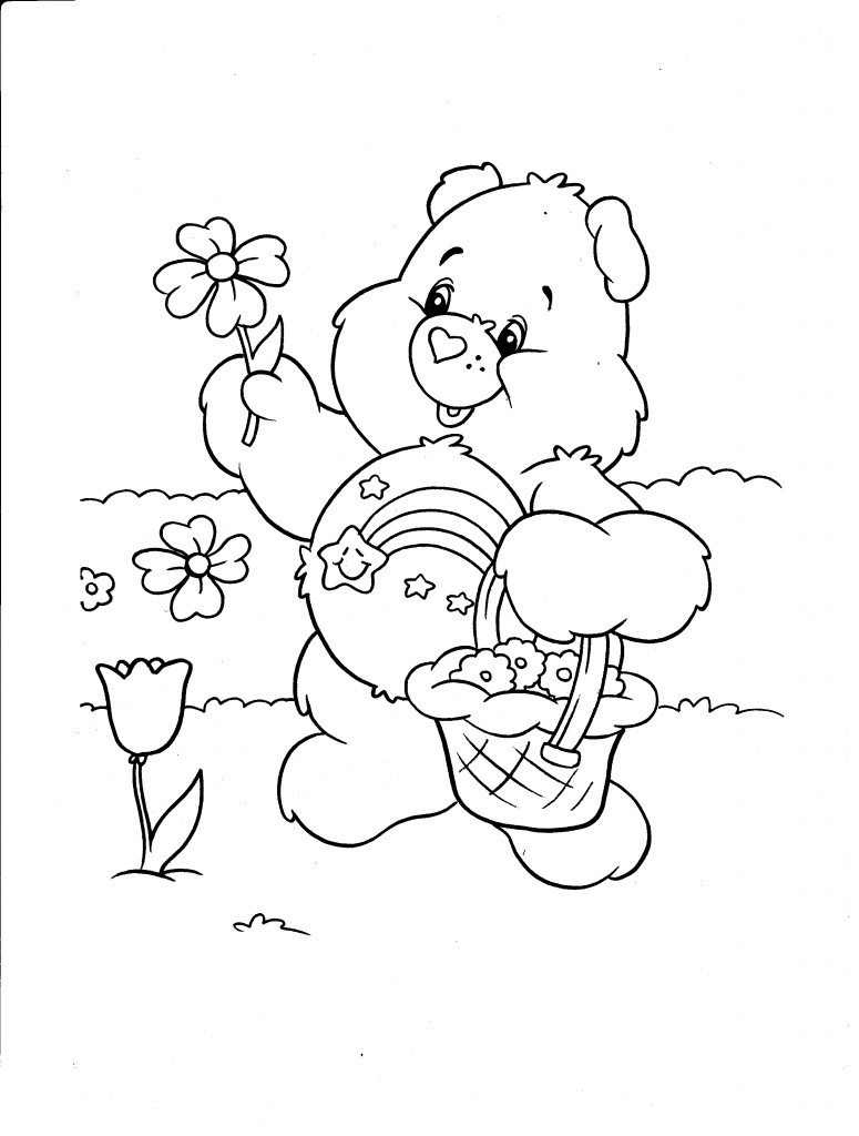 care bears activity care bears coloring page cheer bear coloring sheet
