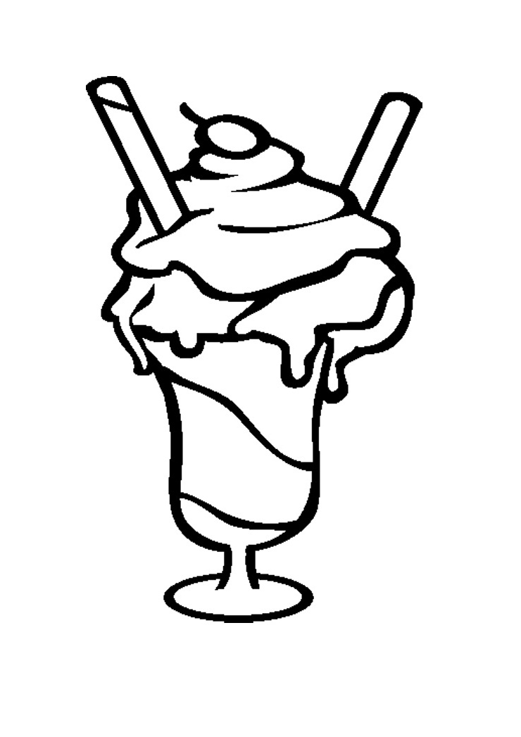 free coloring pages of i love ice cream