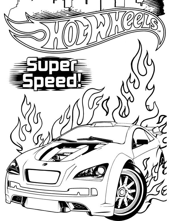 hot wheel coloring pages # 8