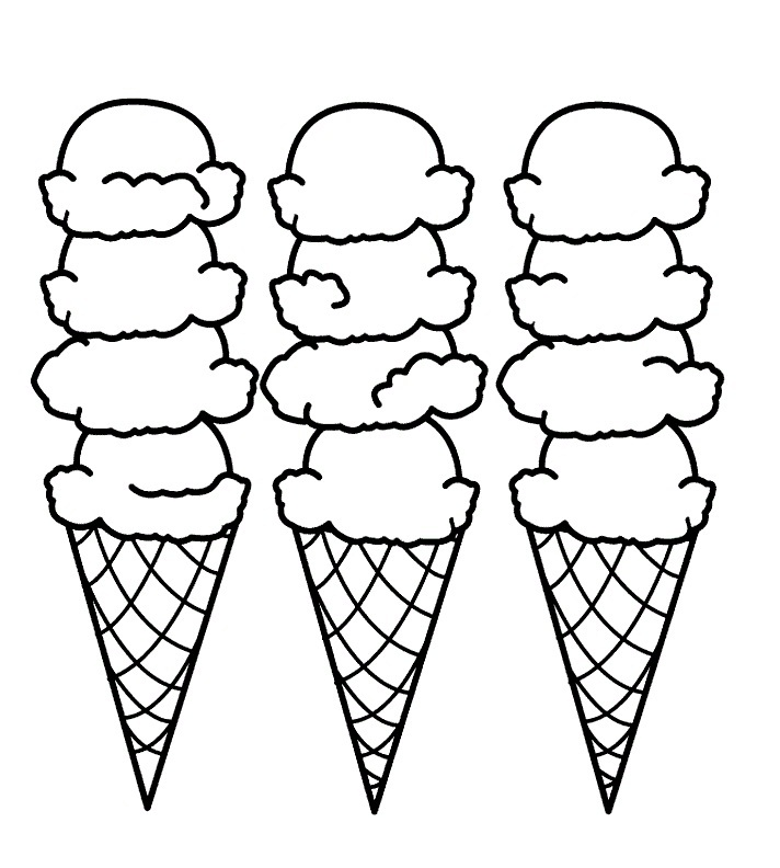 free printable ice cream coloring pages for kids