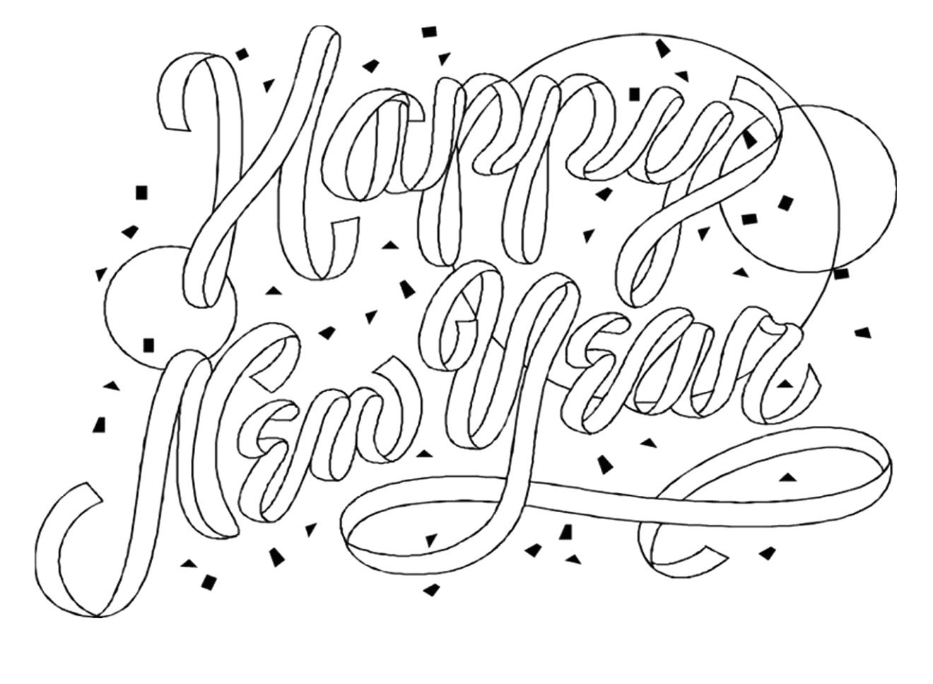 free printable new years coloring pages for kids