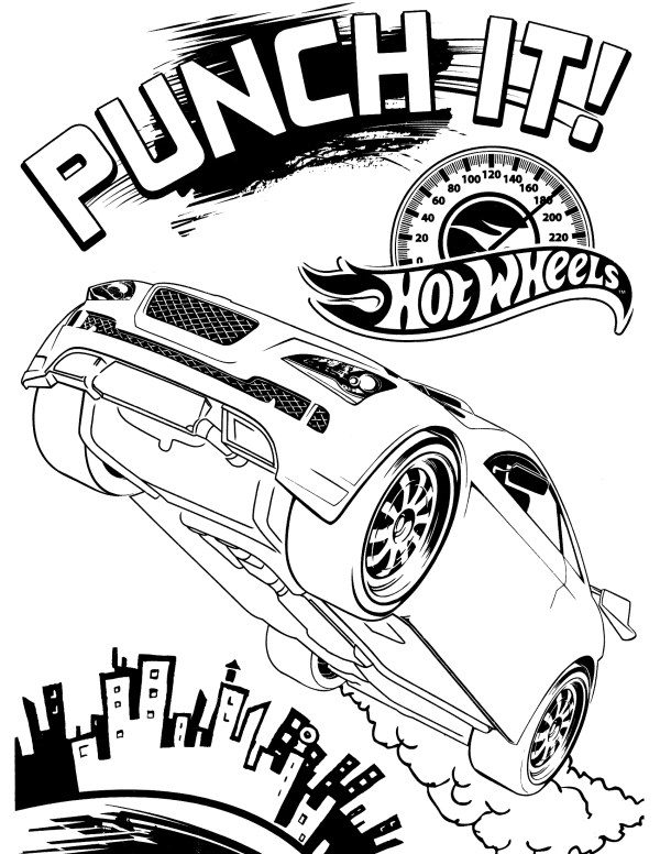 hot wheel coloring pages # 11