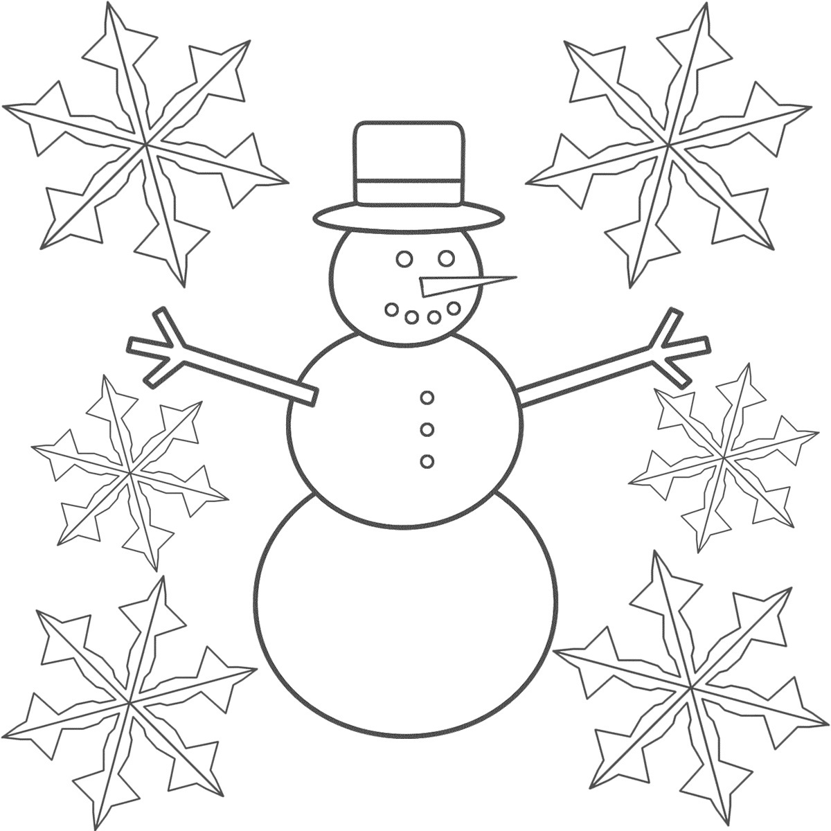 free printable snowflake coloring pages for kids