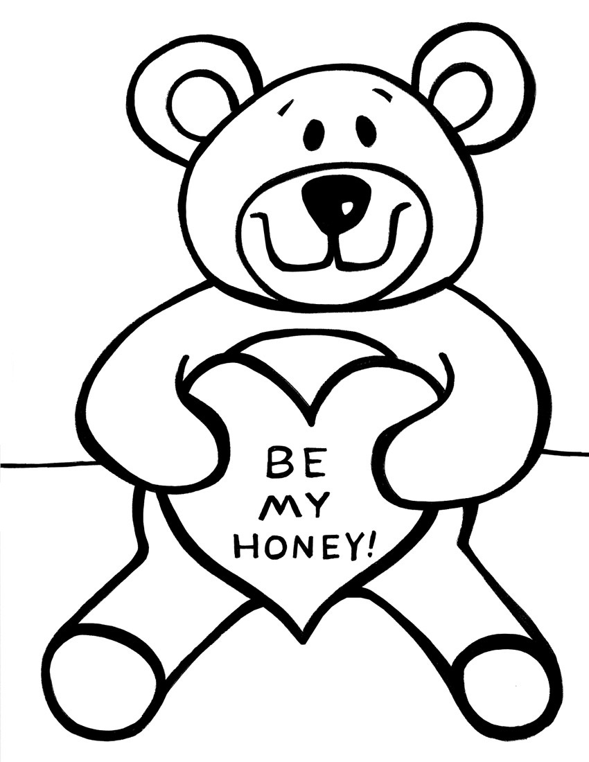 teddy bear coloring pages for kids description this coloring page