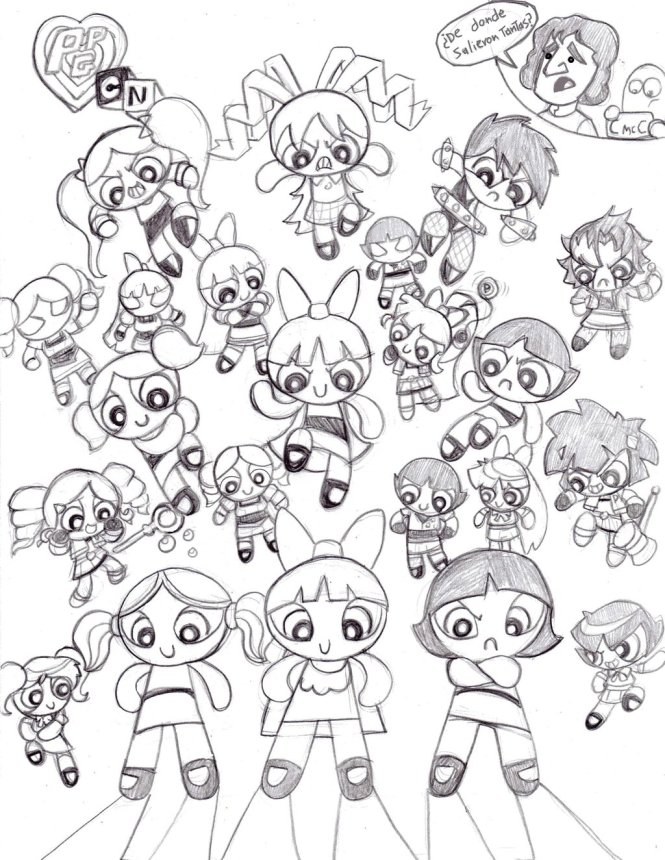 free printable powerpuff girls coloring pages for kids - Powerpuff Girl Coloring Pages