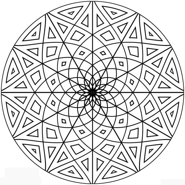 geometric design coloring pages # 2