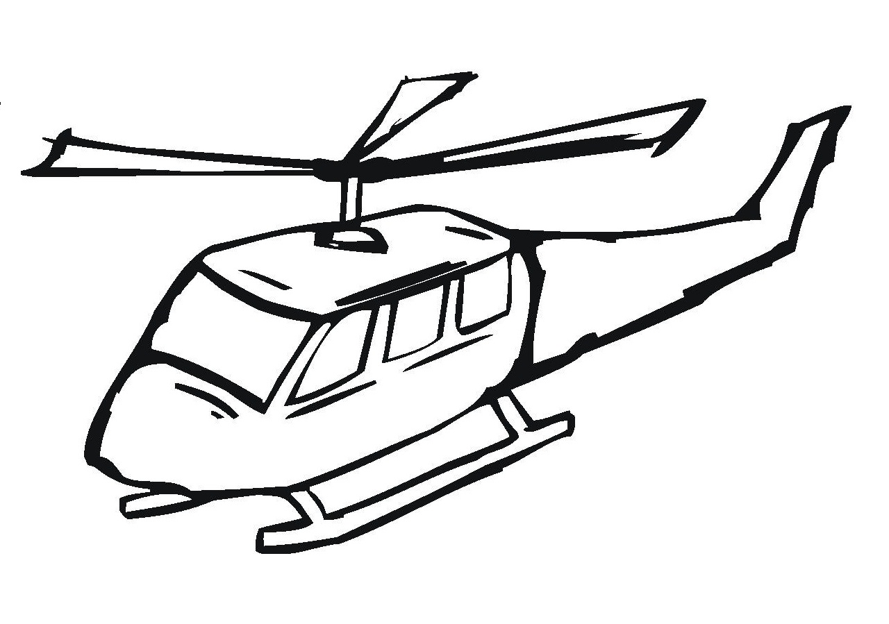free printable helicopter coloring pages for kids