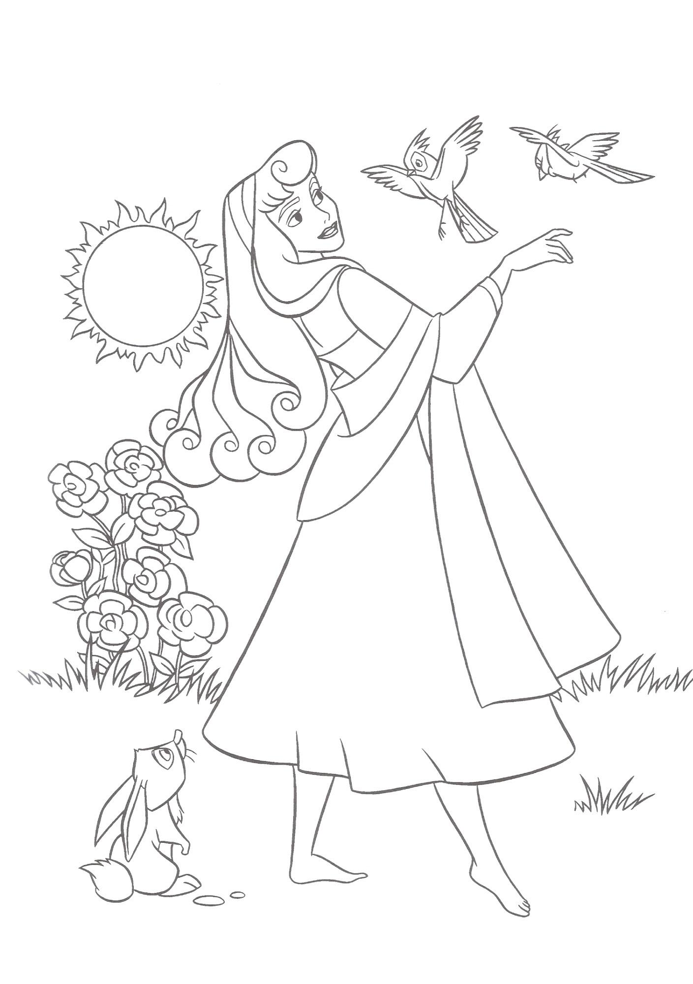 Princess Aurora Coloring Pages Games