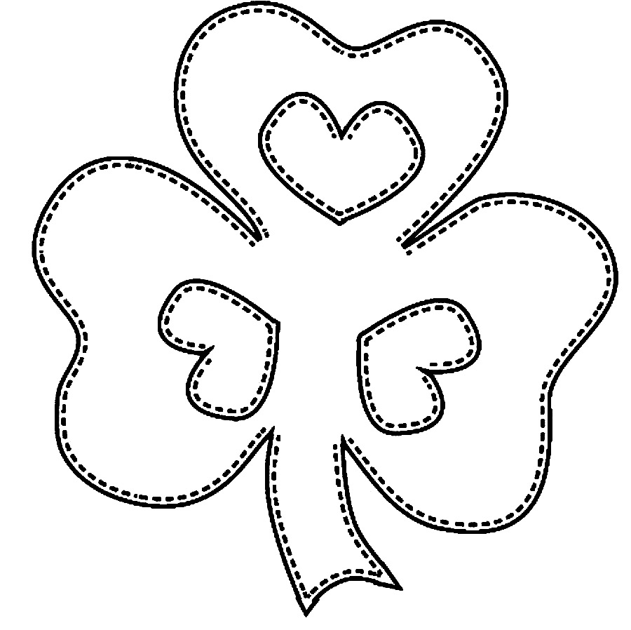 pin day coloring pages shamrock coloring pages st patrick s day