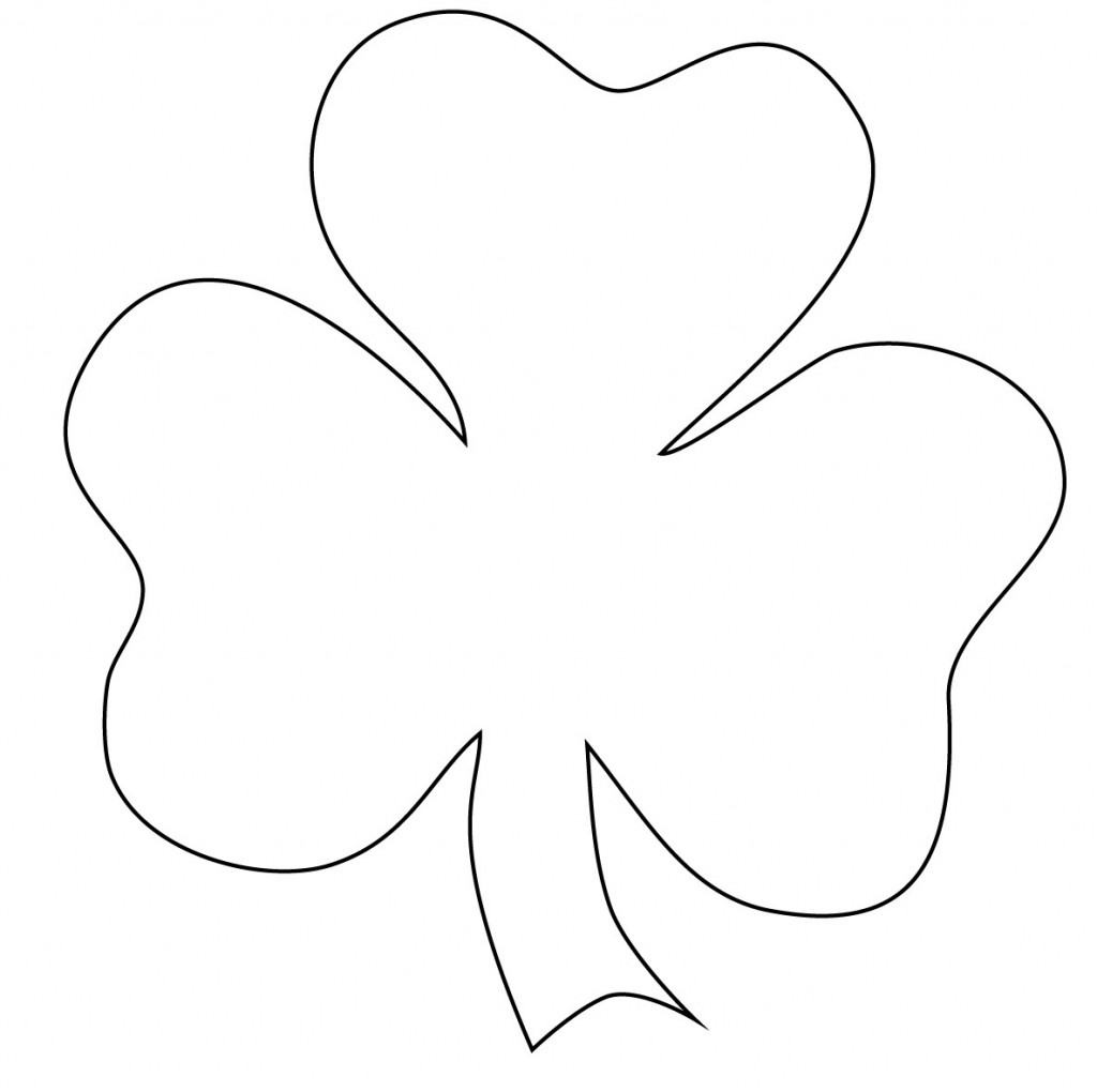 21 Of The Best Ideas For Clover Coloring Pages Printable