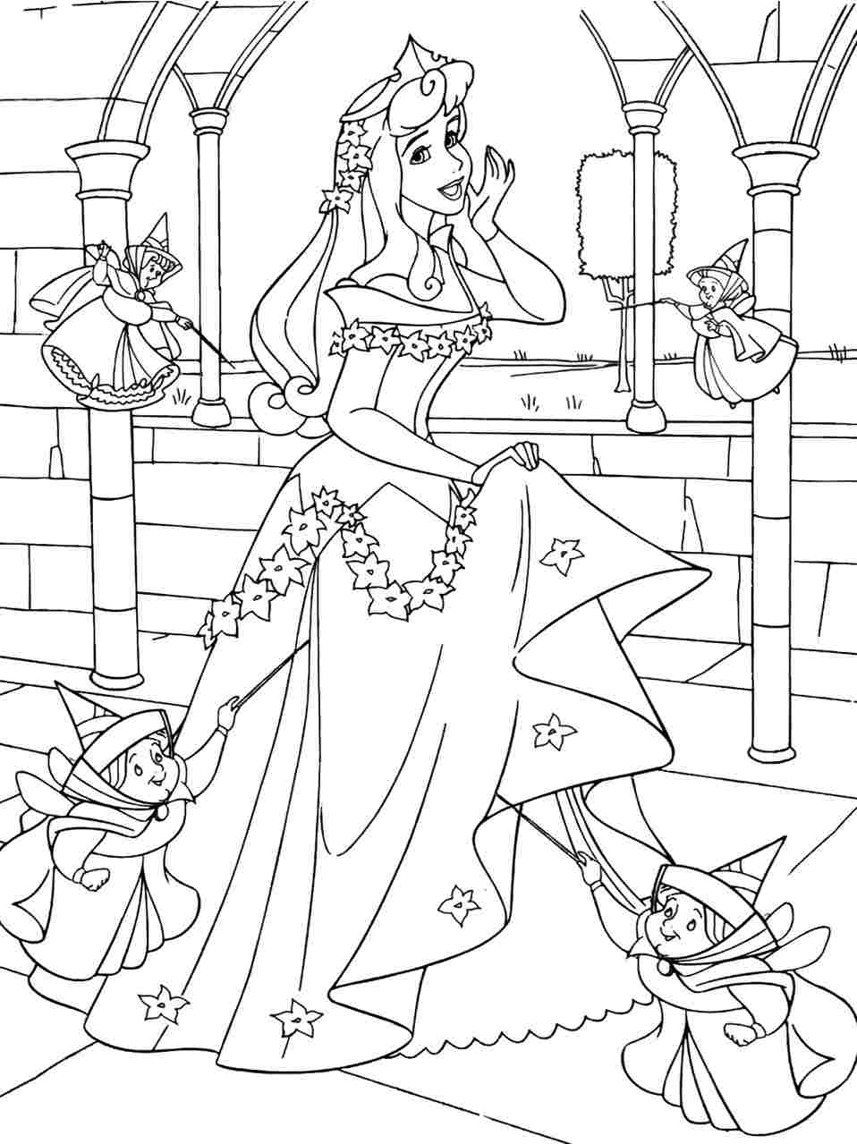 Sleeping Beauty Coloring Pictures Print Coloring Page