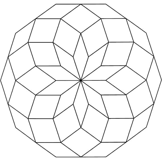 Geometric Designs Coloring Pages Free Geometric Coloring Designs