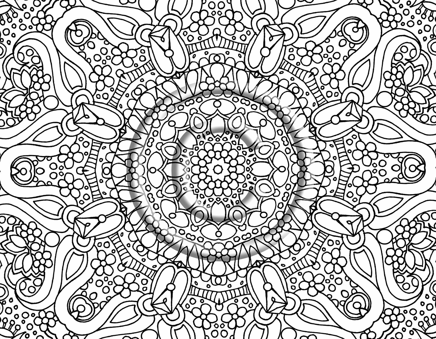 Free printable abstract coloring pages adults, hard coloring pages
