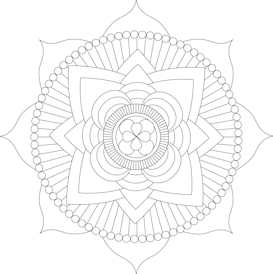 Free Printable Mandala Coloring Pages For Adults - Best ... | free printable colouring pages mandalas