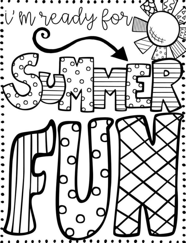 summer coloring pages printable # 7