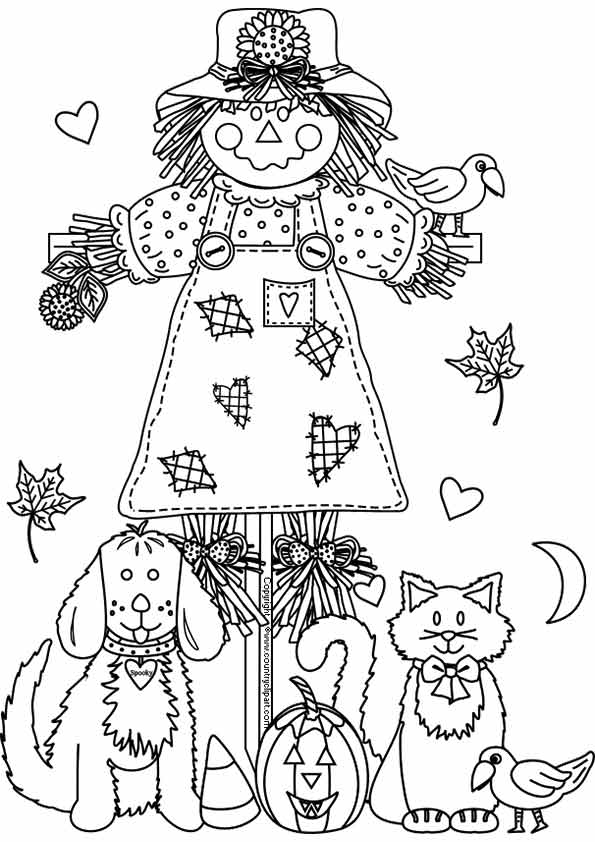 fall coloring pages printable free # 34