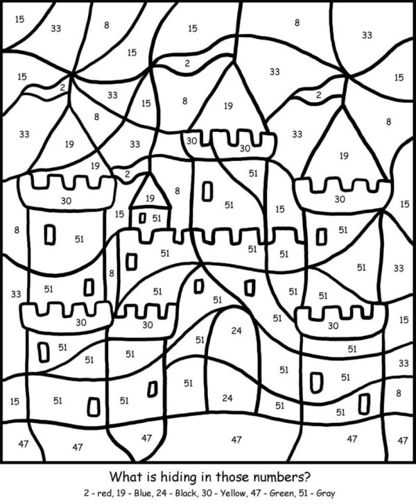 coloring pages by number # 7