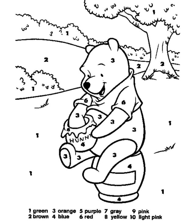 number 4 coloring page # 60