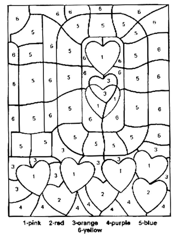 coloring pages by number # 11