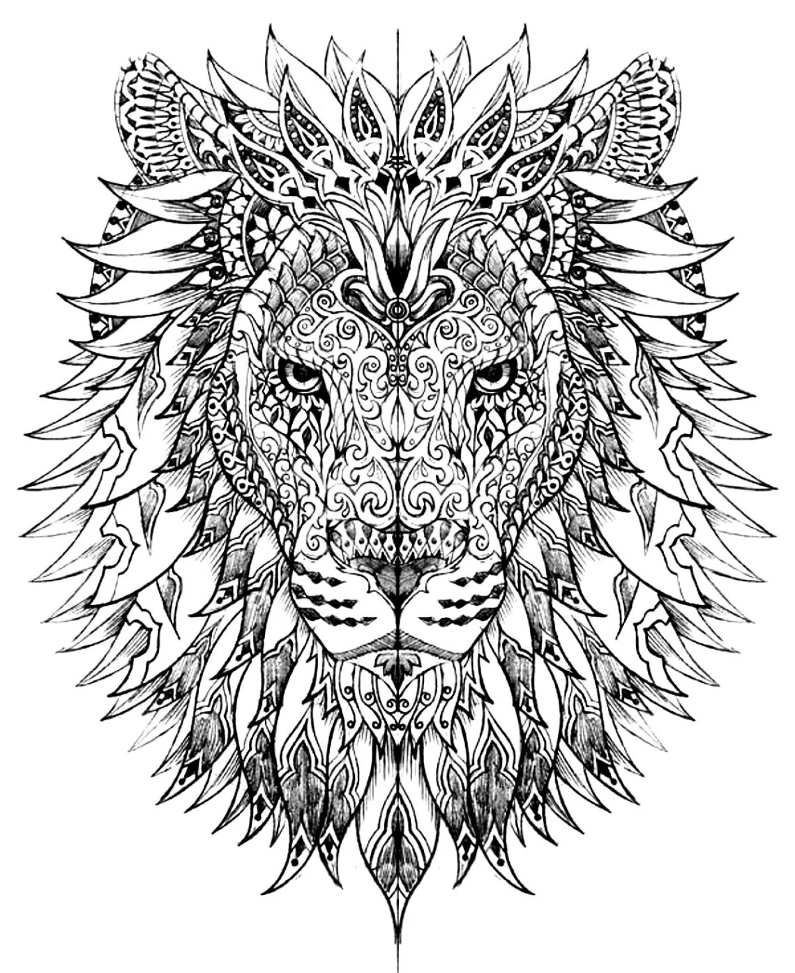 Hard Coloring Pages for Adults - Best Coloring Pages For Kids   colouring pages animals hard