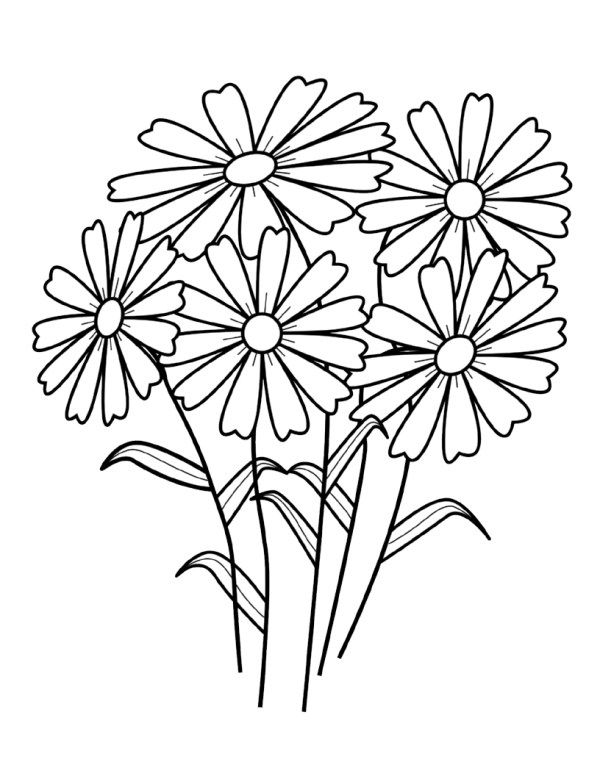 coloring pages flower # 4