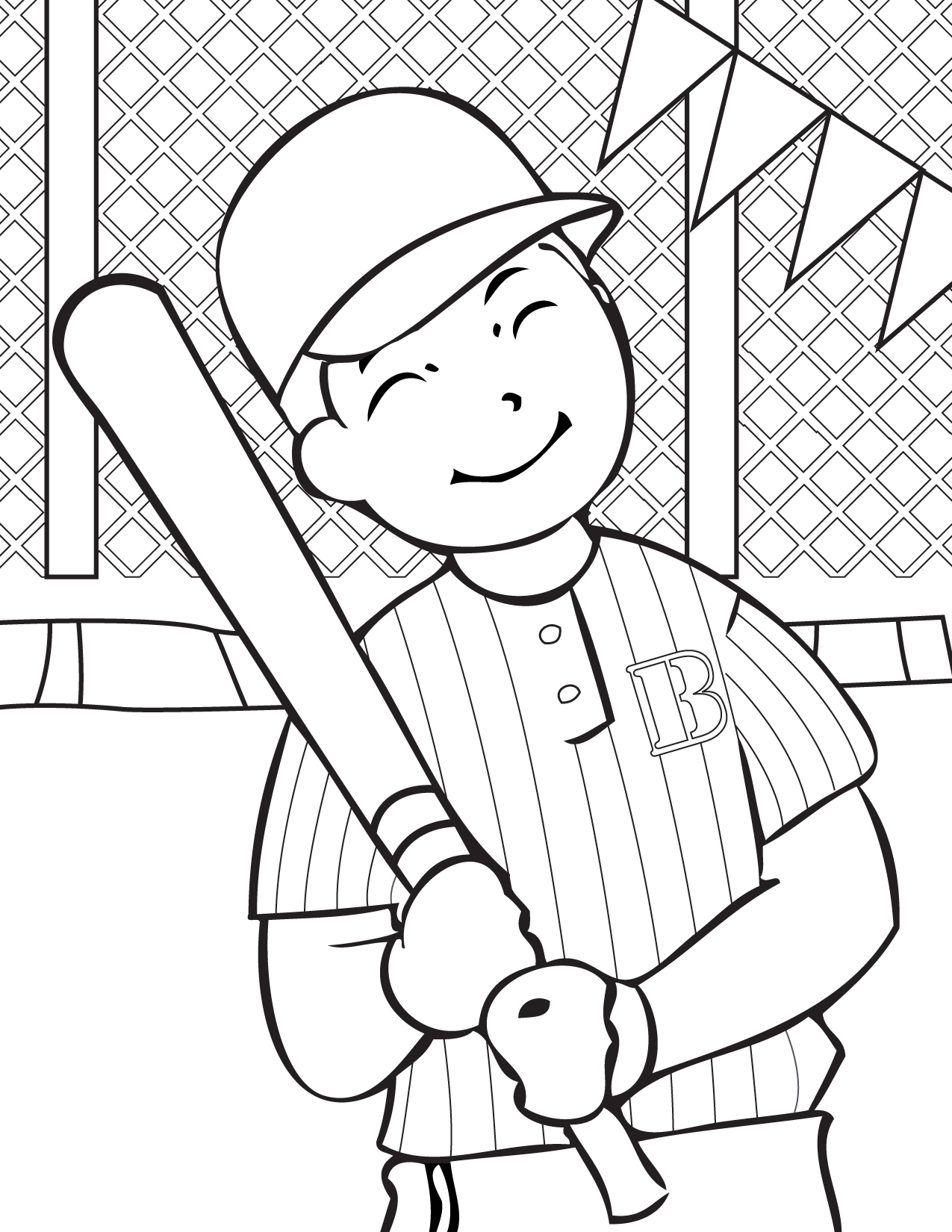 Free Printable Baseball Coloring Pages For Kids