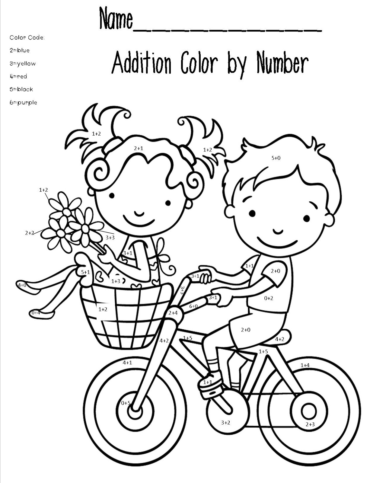 Math Coloring Worksheet For Teens
