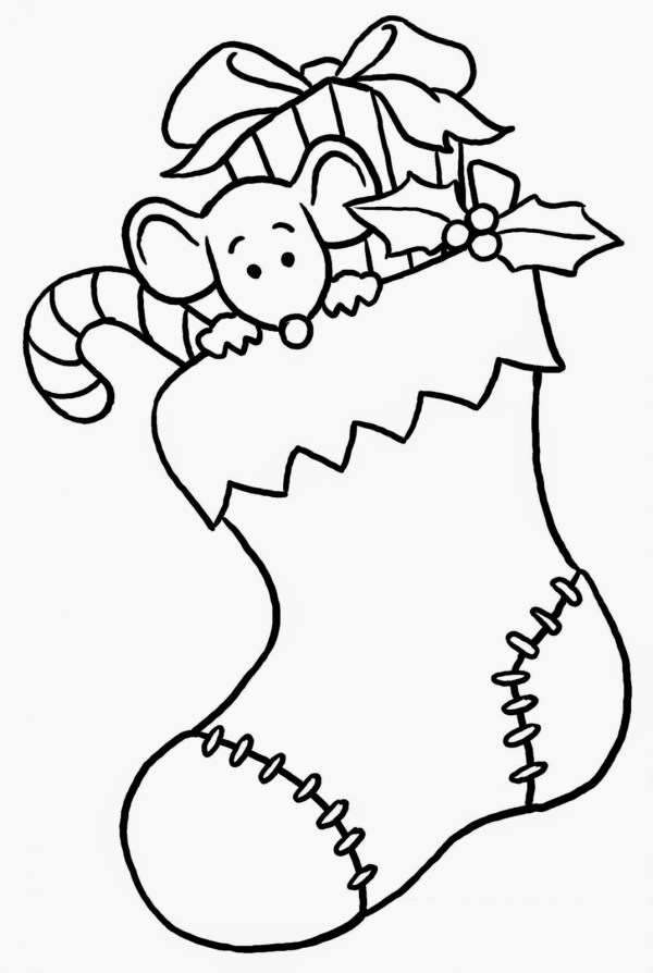 preschool christmas coloring pages # 2